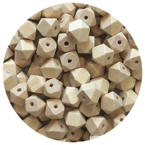 Natural Wood Hexagon Beads - 10mm - 20/50/80pack