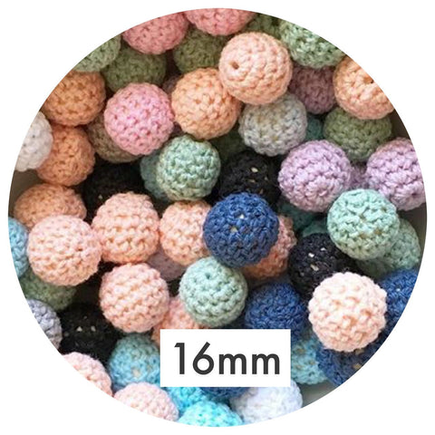 16mm Crochet Beads - Mixed Pack - 20pack