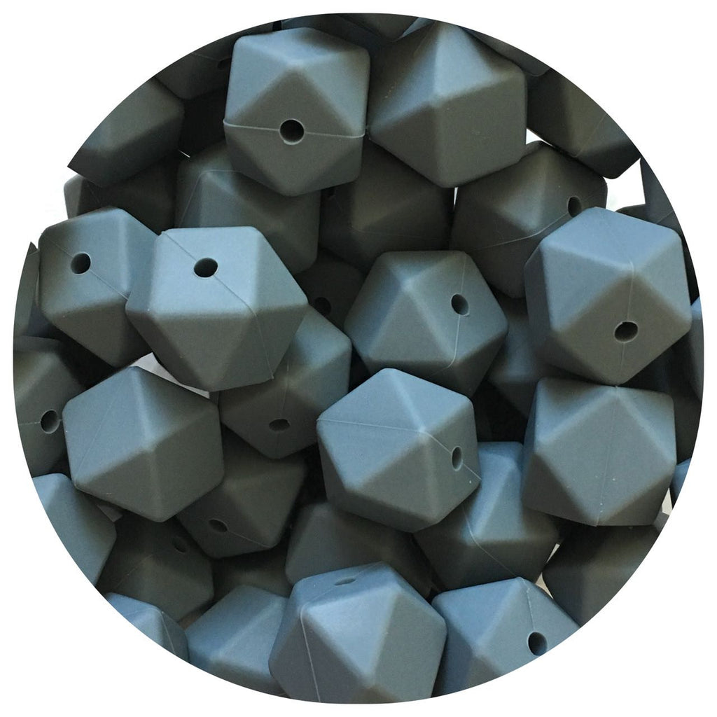 Dark Grey - 17mm Hexagon - 10/25pack