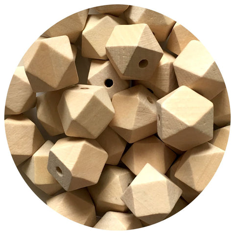 Natural Wood Hexagon Beads - 20mm - 10/30/50pack