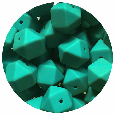 Ocean Green - 17mm Hexagon - 10/20/50pack