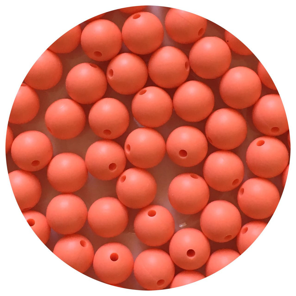 Bright Coral - 12mm Round - 10/25pack