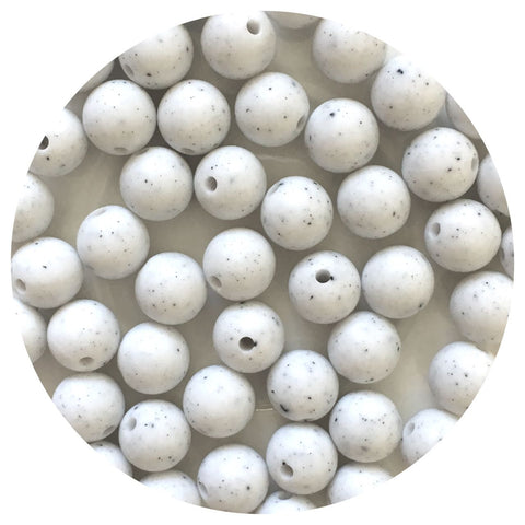 Speckled White - 12mm Round - 10/20/50pack