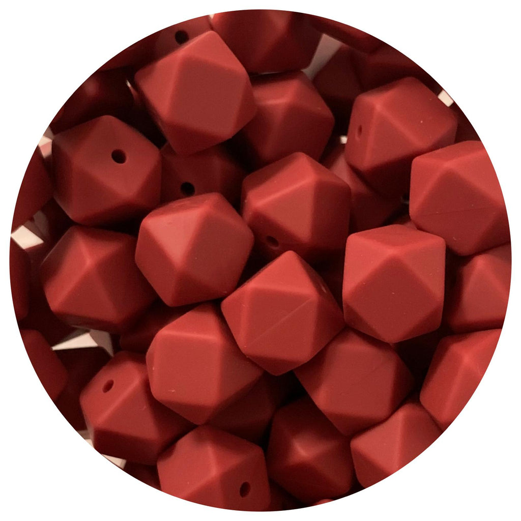 Burgundy Red - 17mm Hexagon - 10/25pack