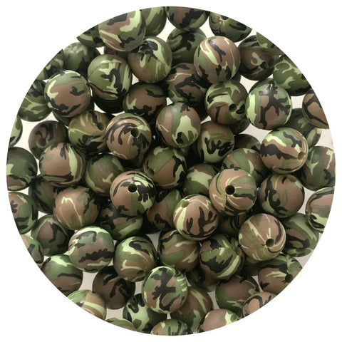 Green Camo - 12mm Round - 10/25pack