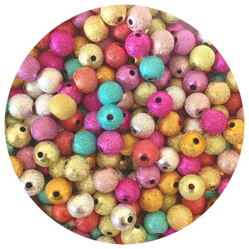 12mm Mixed Stardust Acrylic Beads - 20pack