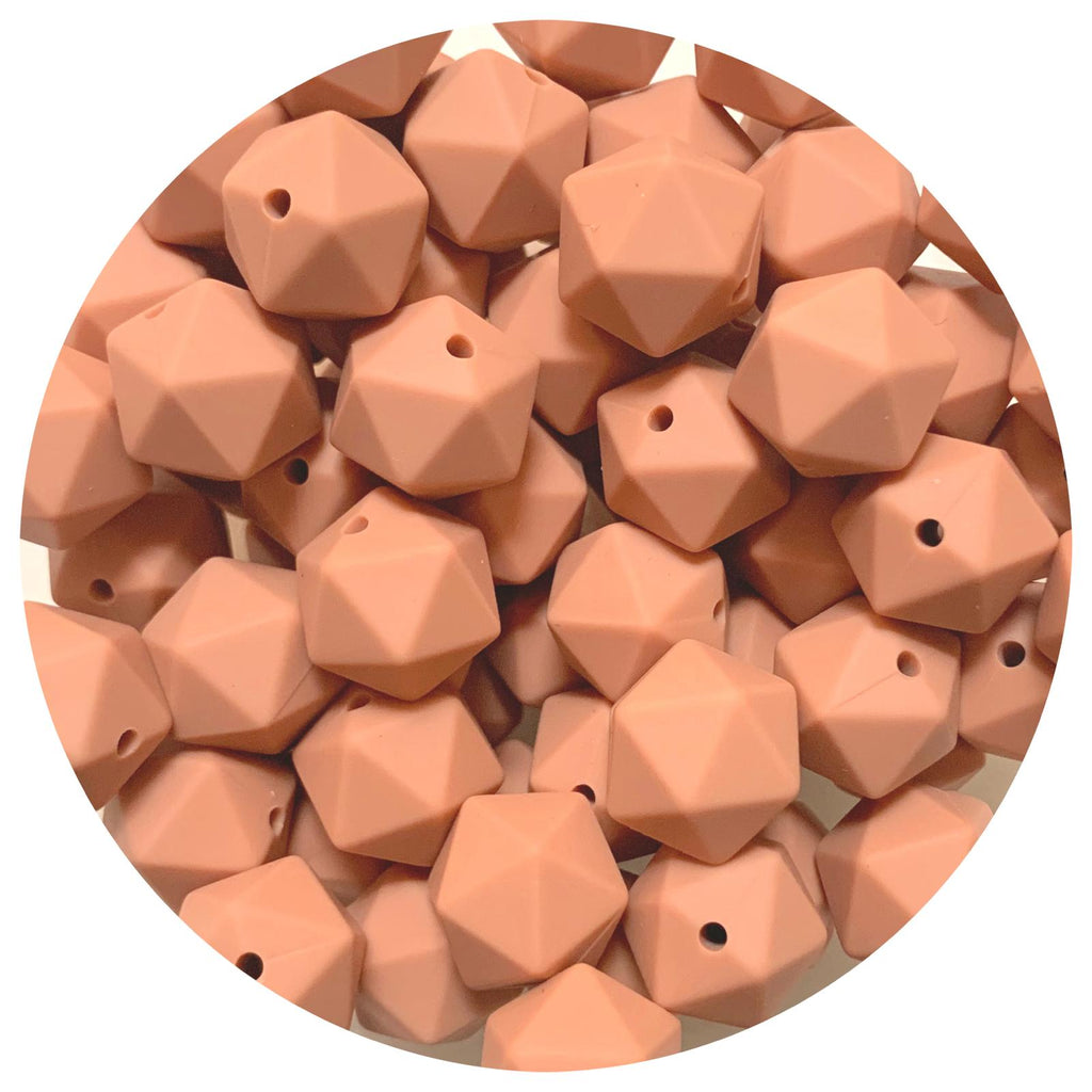 Latte - 14mm Mini Icosahedron - 10pack
