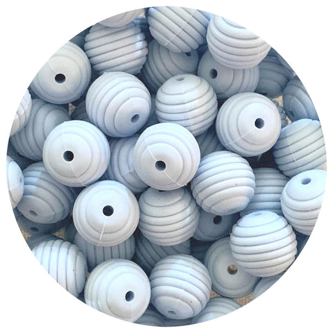 Pastel Blue - 15mm round Beehive - 10pack
