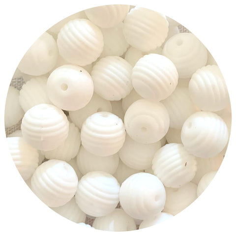 Snow White - 15mm round Beehive - 10pack