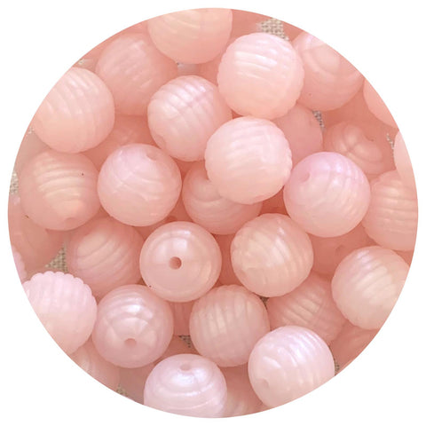 Pearl Blush - 15mm round Beehive - 10pack