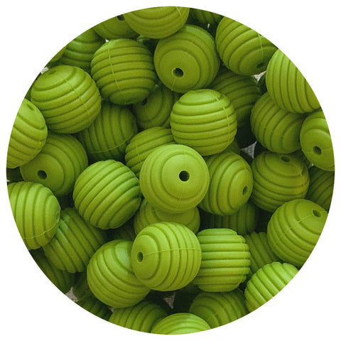 Olive Green - 15mm round Beehive - 10pack