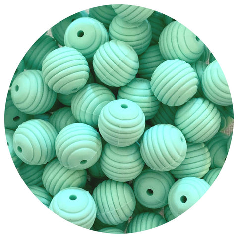 Mint Green - 15mm round Beehive - 10pack
