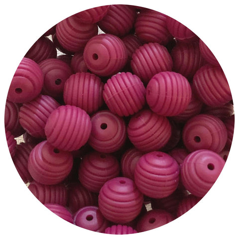 Plum - 15mm round Beehive - 10pack