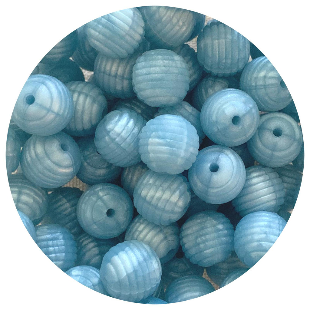 Pearl Blue - 15mm round Beehive - 10pack