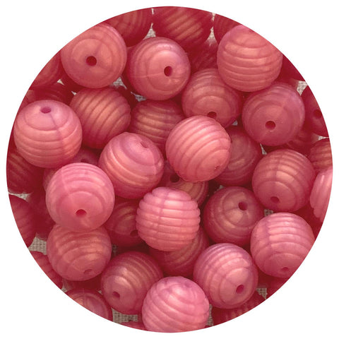 Pearl Rose Shimmer - 15mm round Beehive - 10pack