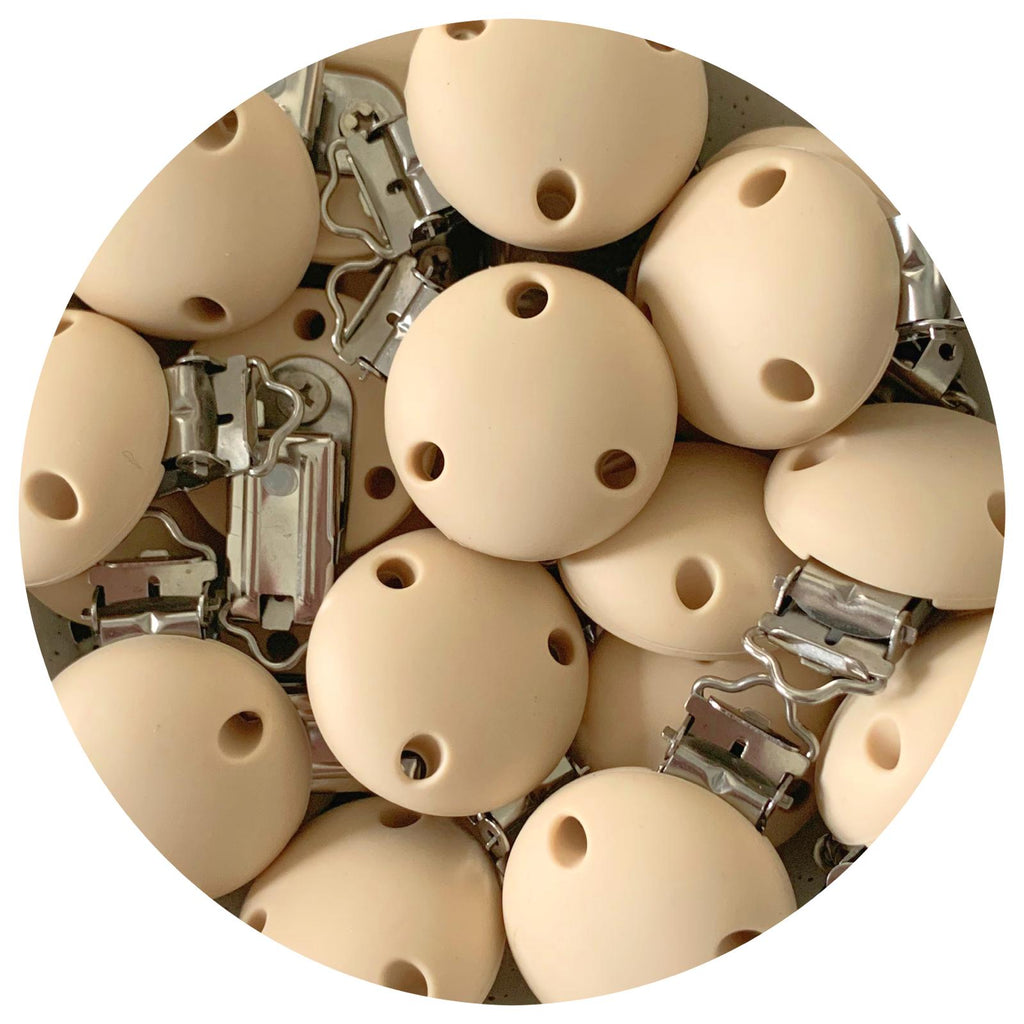 Cream Beige - Silicone Dummy Clip - Each
