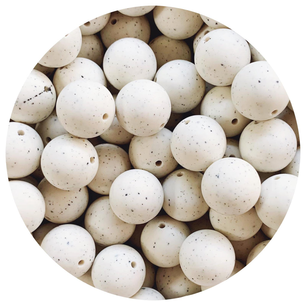 Linen Speckled - 19mm round - 10/25pack