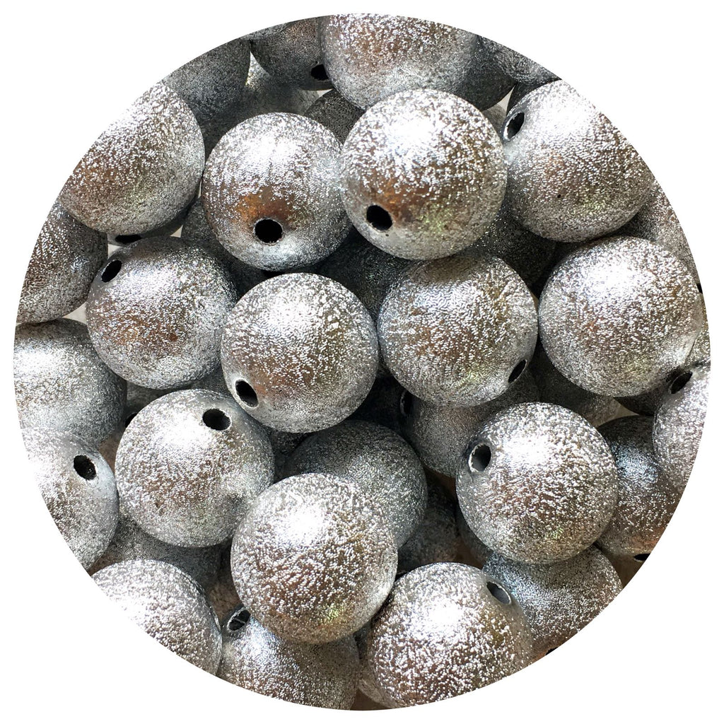 20mm Silver Stardust Beads - 10/20pack