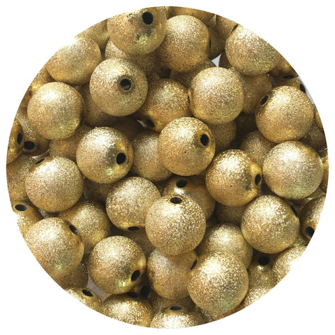 16mm Gold Stardust Acrylic Beads - 10/20pack