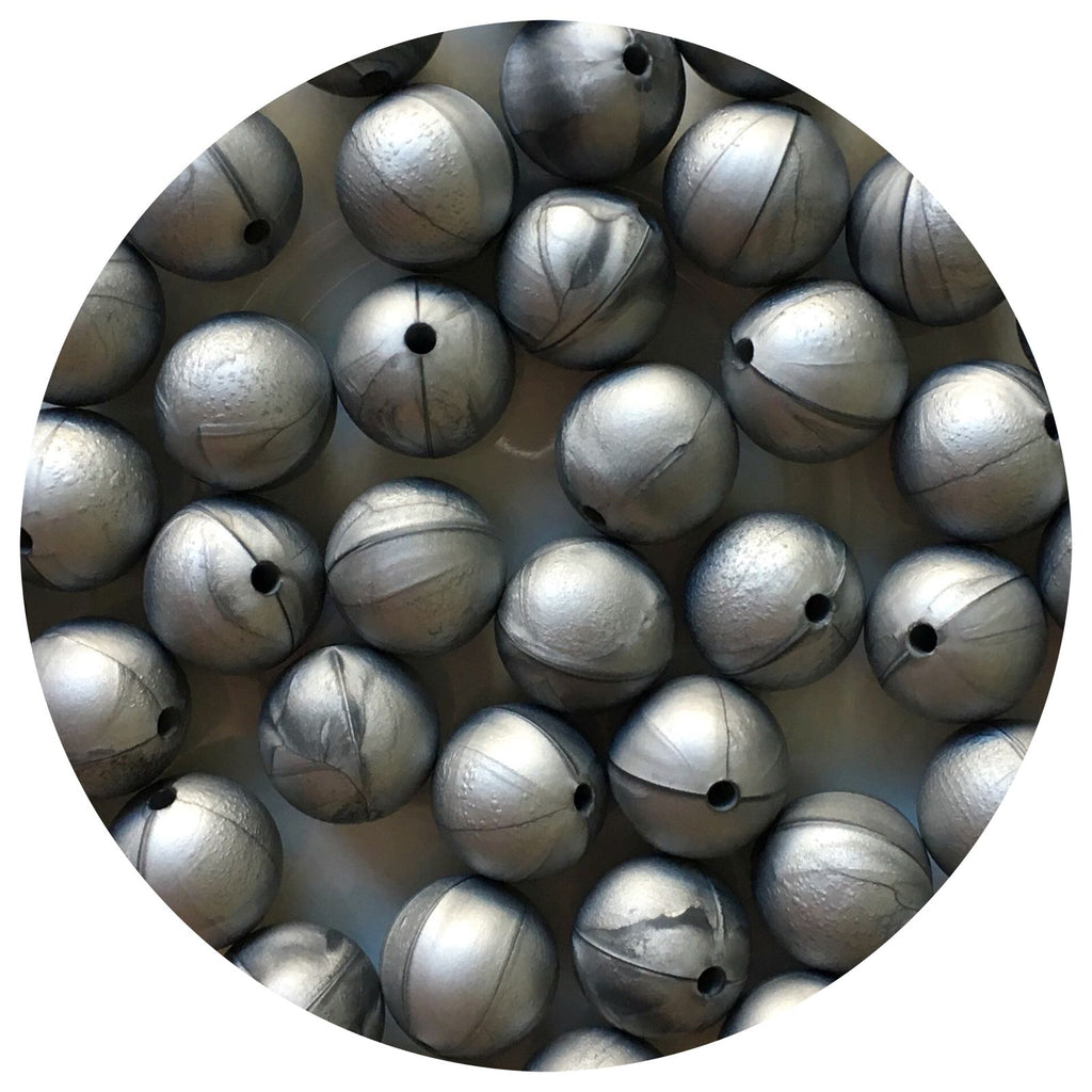 Silver - 15mm round - 10/20/50pack