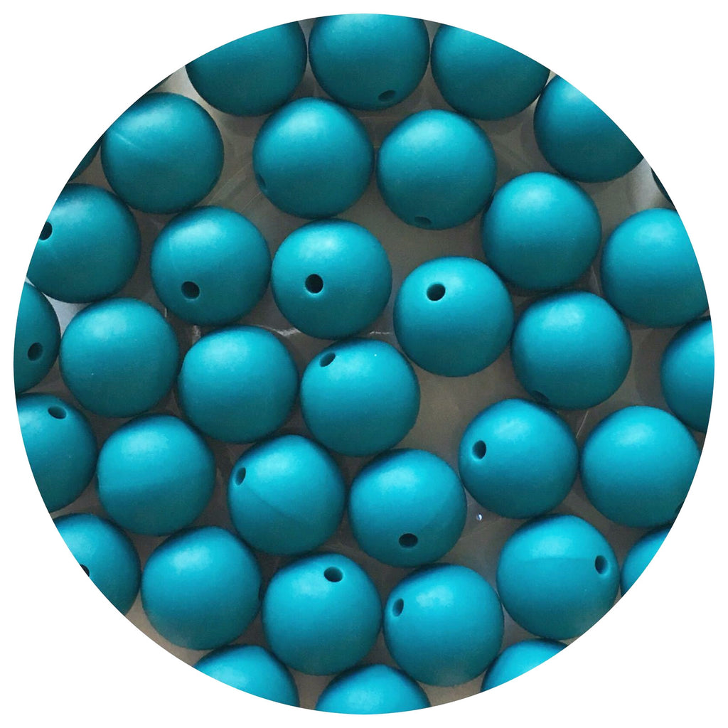 Teal - 15mm round - 10/25pack