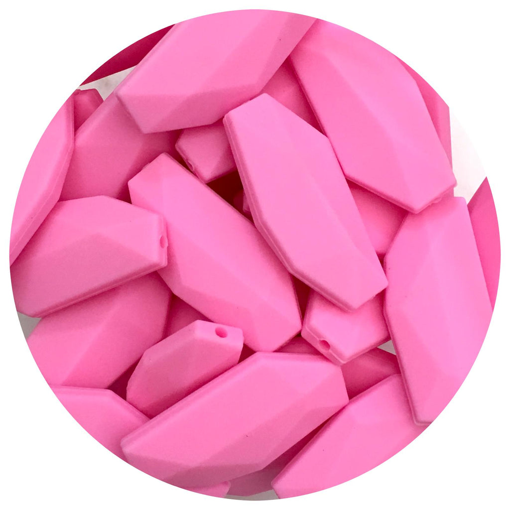 Bubblegum Pink - Geo Leaf - 10pack