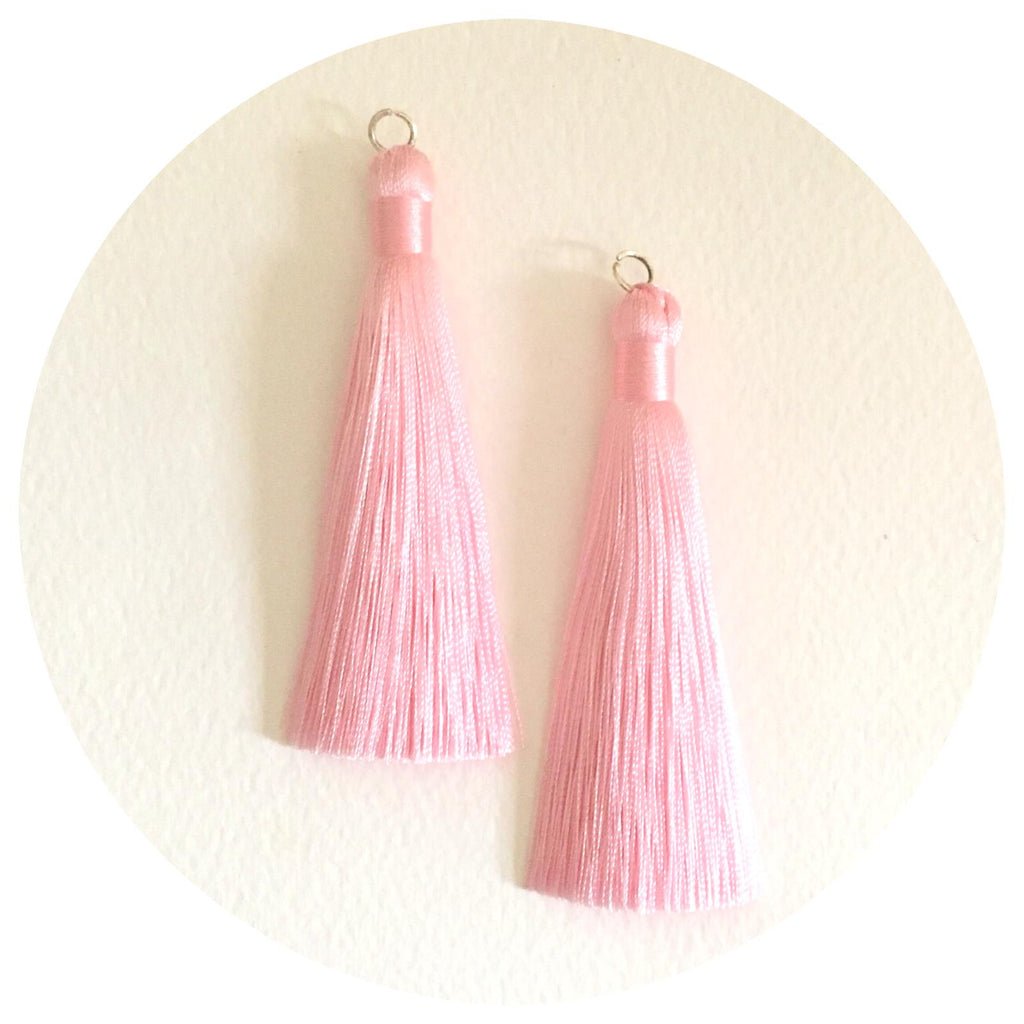 80mm Silk Tassels - Blush Pink - 2pack
