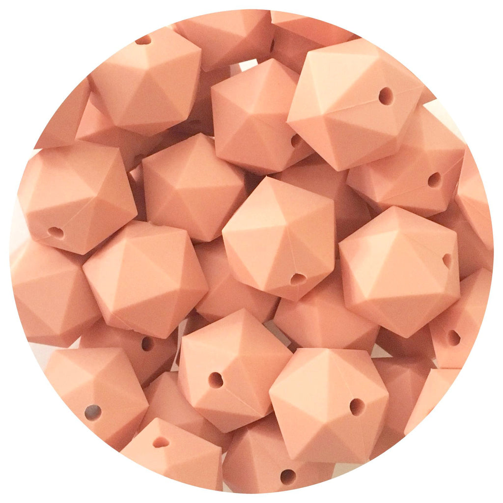 Peach - 17mm Icosahedron - 10/20pack