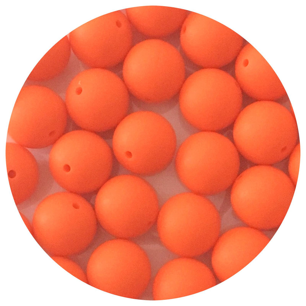 Tangerine Orange - 19mm round - 10/25pack