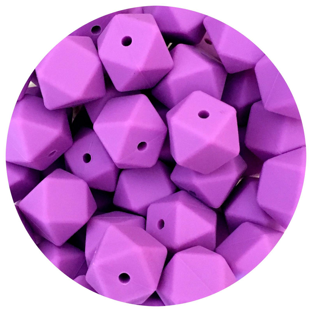Lavender Purple - 17mm Hexagon - 10/25pack