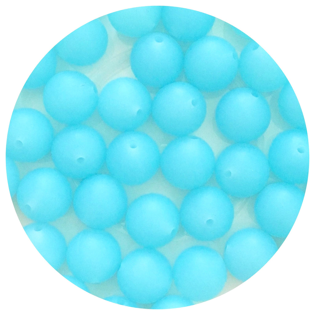 Ice Blue - 15mm round - 10/25pack