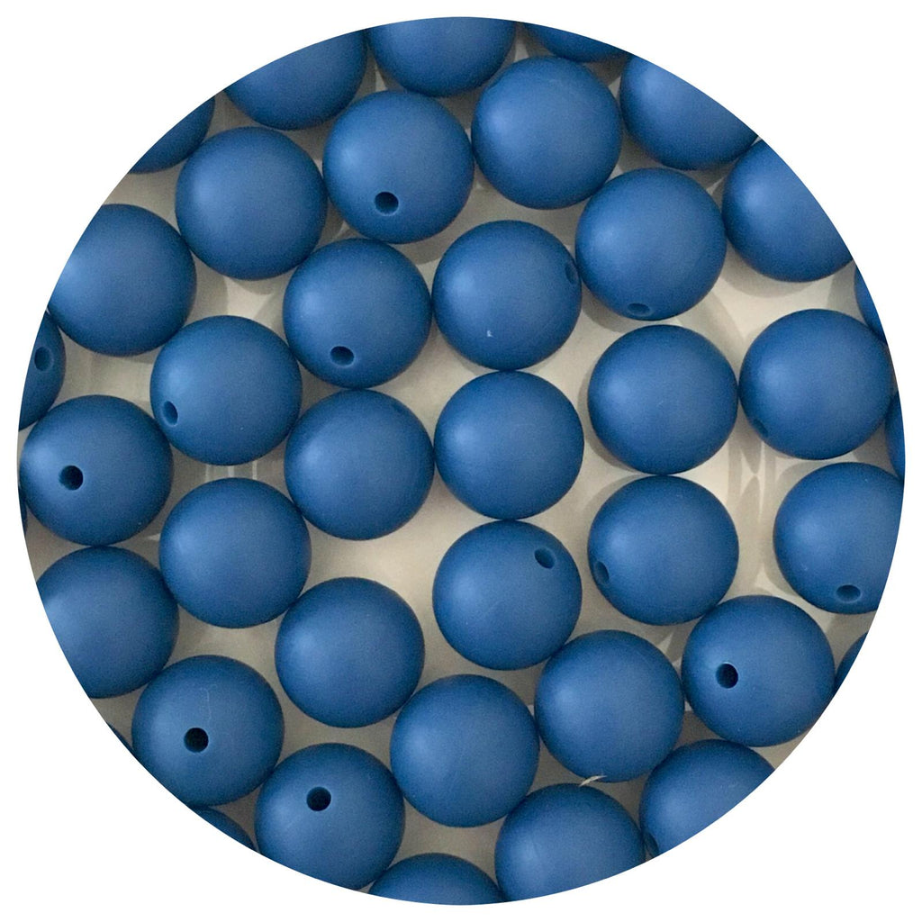 Indigo Blue - 15mm round - 10/25pack