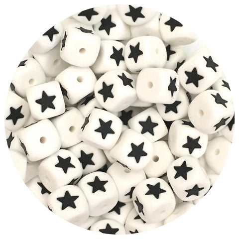 12mm Silicone Star Beads - 10/20pack