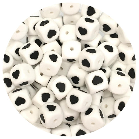 12mm Silicone Love Heart Beads - 10/20pack