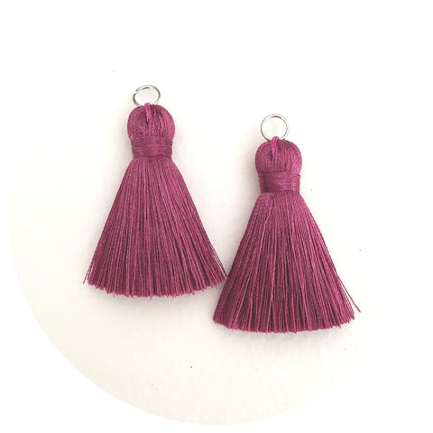 40mm Silk Tassels - Mauve - 2pack