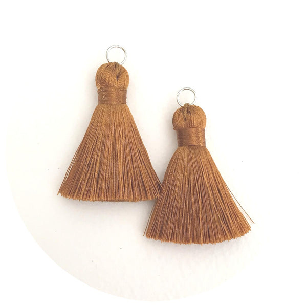 40mm Silk Tassels - Tan - 2pack