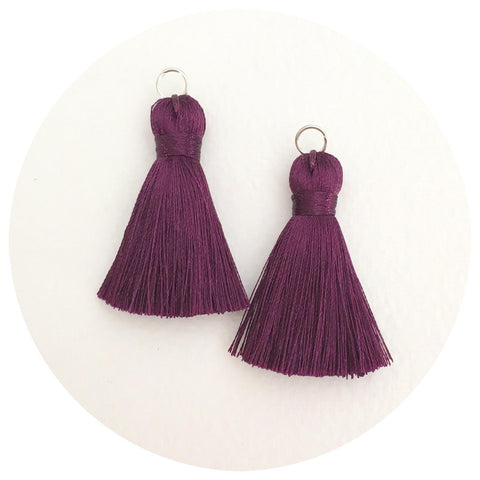 40mm Silk Tassels - Plum - 2pack