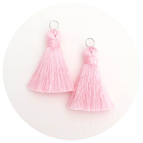 40mm Silk Tassels - Blush Pink - 2pack