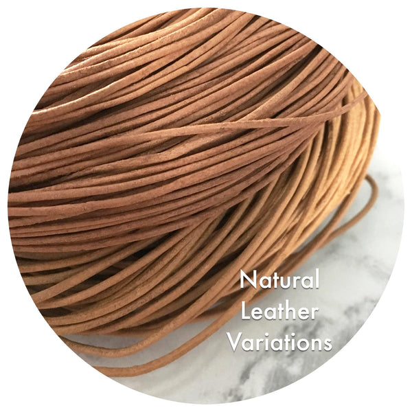 Genuine Leather Cord - Natural Tan - 1.5mm