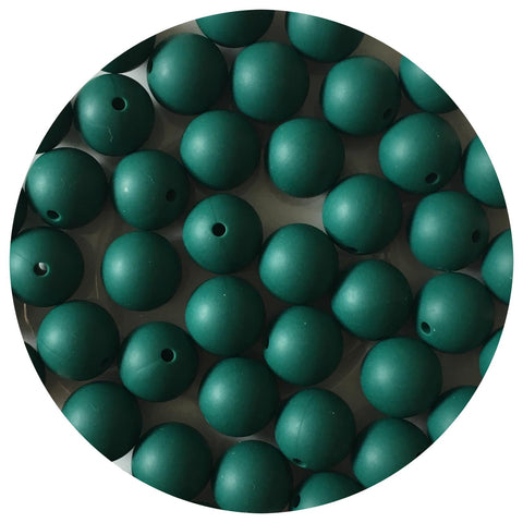 Forest Green - 15mm round - 10/20pack