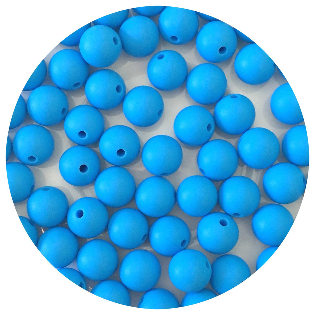 Sky Blue - 12mm Round - 10/25pack