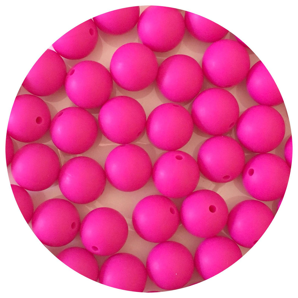 Hot Pink - 15mm round - 10/25pack