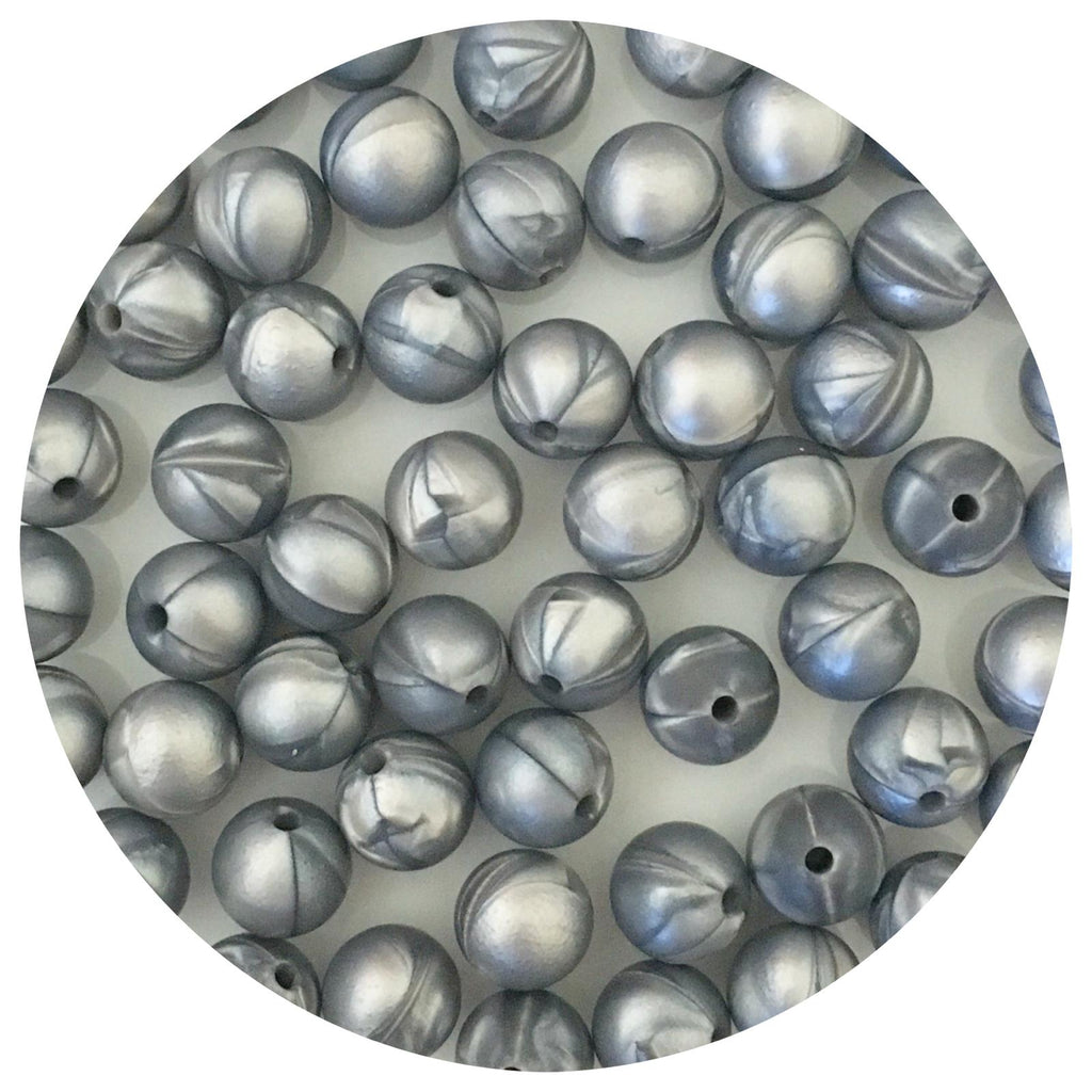 Metallic Silver - 12mm Round - 10/25pack