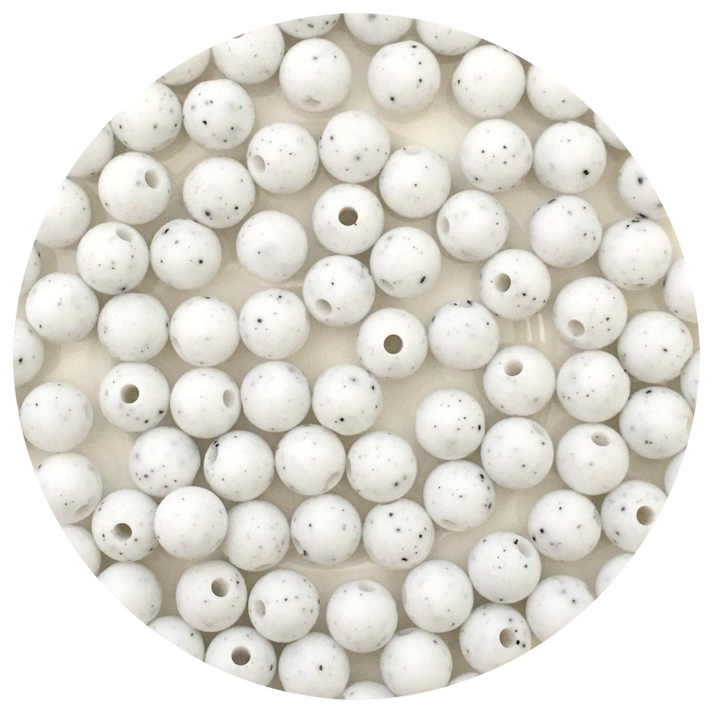 White Speckled - 9mm Round - 10/25pack