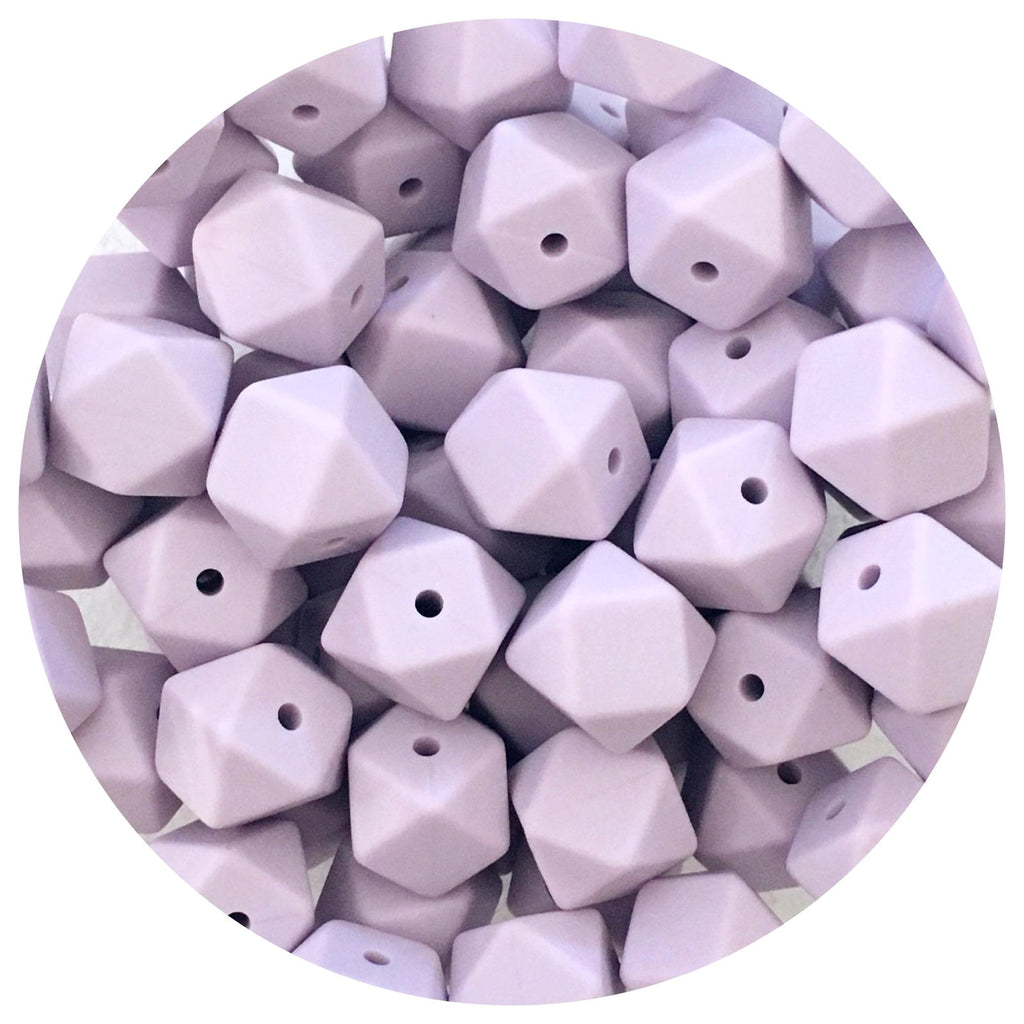 Lilac Purple - 14mm Mini Hexagon - 10/20pack