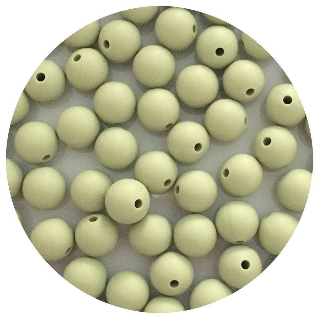 Sage Green - 12mm Round - 10/25pack