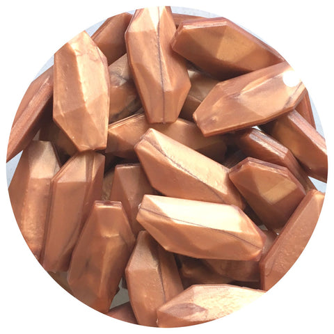 Rose Copper - Geo Leaf - 10/20pack
