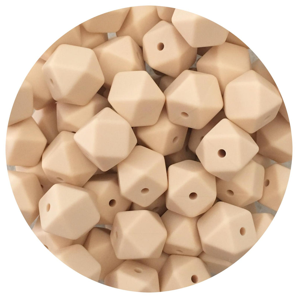 Beige - 14mm Mini Hexagon - 10/20pack