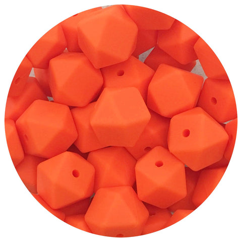 Tangerine Orange - 17mm Hexagon - 10/20/50pack