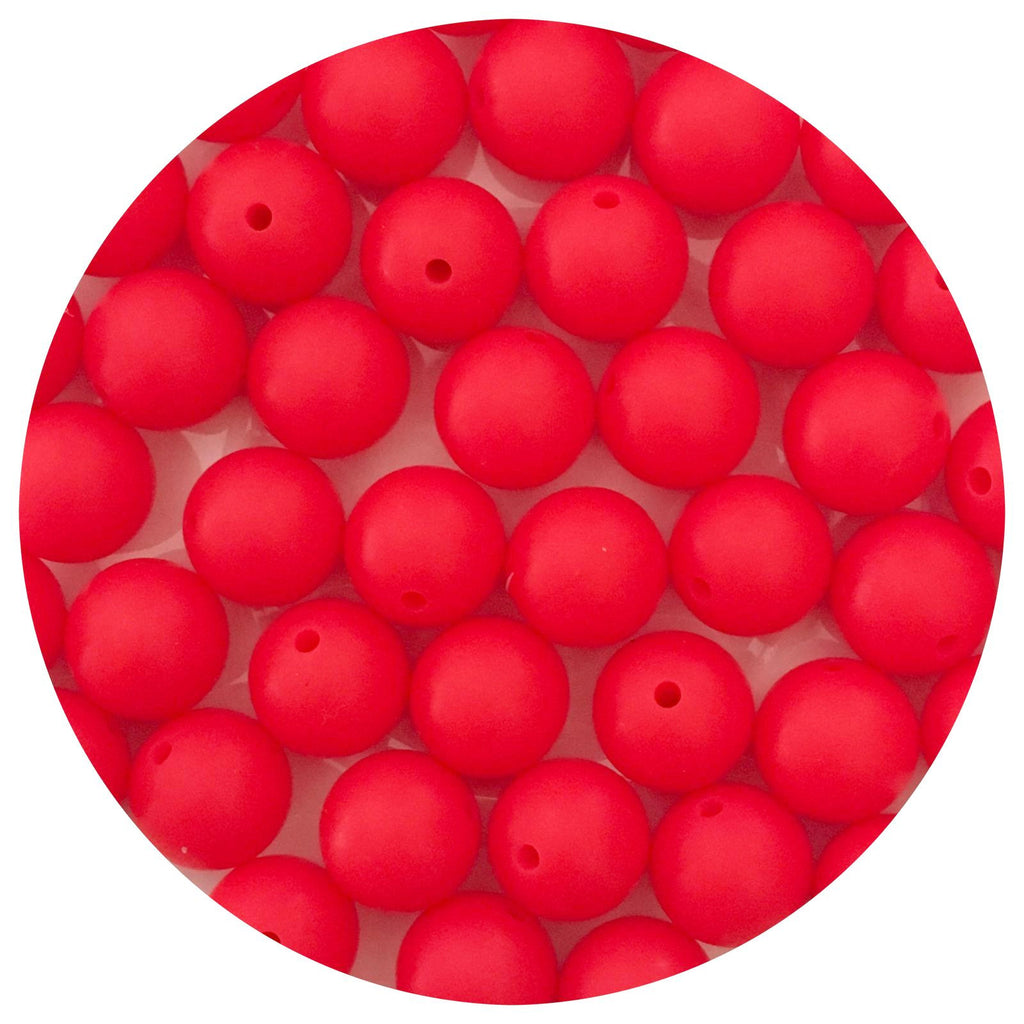 Watermelon Red - 15mm round - 10/25pack